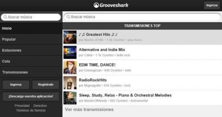 Cliente HTML5 de Grooveshark