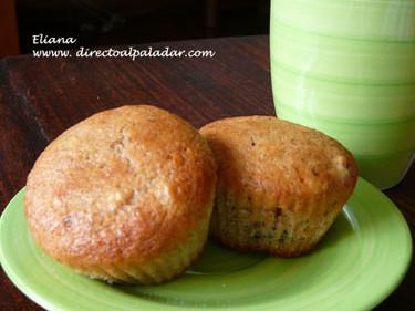 Muffins de banana y yogur. Receta