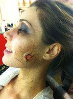 Pilar Rubio maquillada de zombie para su disfraz de Carnaval