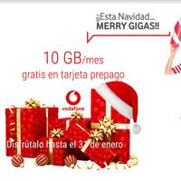 Vodafone regala hasta 30 GB por navidad a todos los clientes con tarjeta prepago