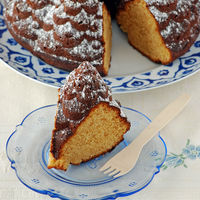 Bundt Cake de Turrón de Jijona. Receta de aprovechamiento