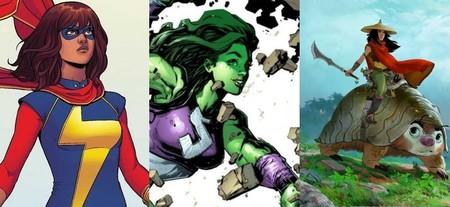 Llegan tres nuevas superheroinas a Disney: Hulka, Ms. Marvel y Raya, esto es todo lo que sabemos sobre ellas