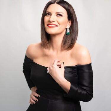 Laura Pausini acude a la Gala de los Oscar 2021 con un total look negro derrochando elegancia y sencillez