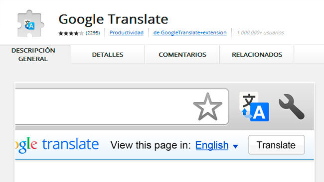 Usa Google Translator para traducir una web entera