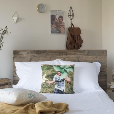 Una buena idea: cojines con tus fotos favoritas para personalizar espacios
