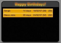 Happy Birthdays!: Widget que te recuerda los próximos cumpleaños de tu agenda