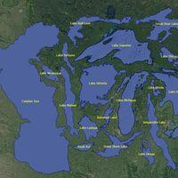 Los lagos más grandes del planeta, comparados en un detallado gráfico