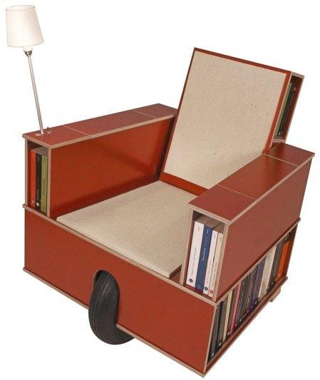Foto de Otro rincón de lectura, compacto y móvil (1/4)