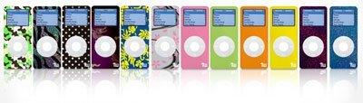 Pegatinas y fundas para el iPod nano