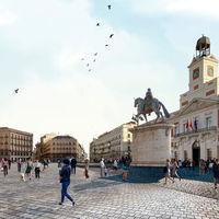 Adiós a los coches en la nueva Puerta del Sol de Madrid, que será más diáfana y retornará al diseño del siglo XIX
