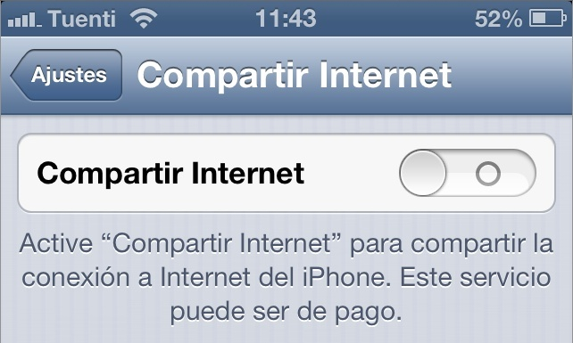 compartir internet tethering iphone apple ios