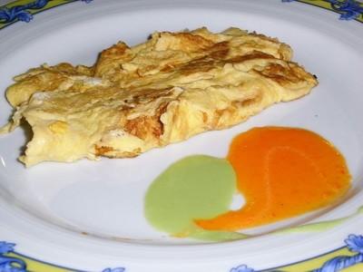 El desayuno: Tortilla de claras con una yema