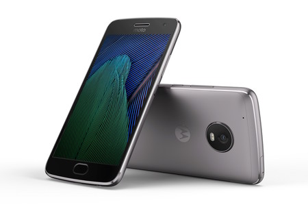 Moto G5 Plus Black Front 2fback