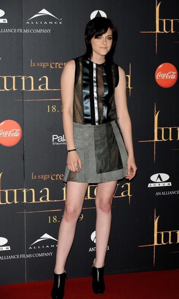 Kristen Stewart en la premiere de Crepúsculo: Luna Nueva en Madrid