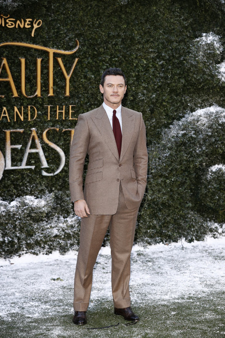 Luke Evans Tom Ford Suit Disney Beauty And The Beast Uk Launch Event