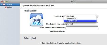 iWeb más Dropbox