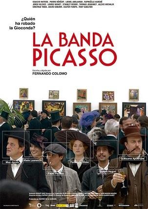 Imagen con el cartel de 'La banda Picasso'