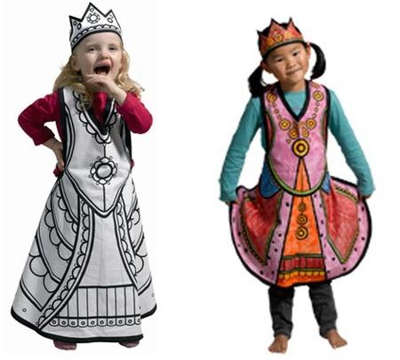 Disfraces que los niños pueden colorear