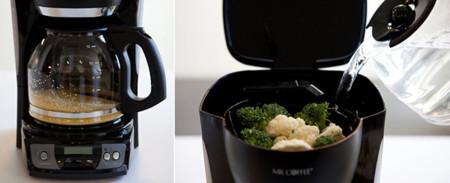 ¿Preparar café en una cafetera?...Lo de hoy es cocinar en una máquina de café
