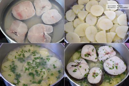 Merluza con Patatas en Salsa Verde