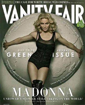 Madonna se pone verde para Vanity Fair