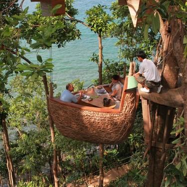 Una cena en el paraíso: este 'resort' de Tailandia te sirve la comida en lo alto de un árbol