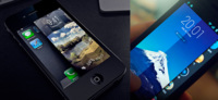 Nuevo concepto de desbloqueo mediante pliegues para iOS