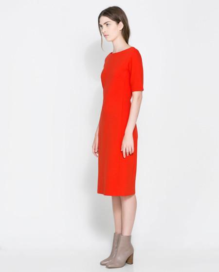 vestido rojo básico