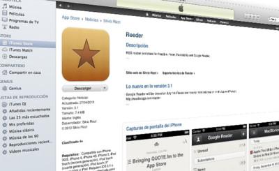 Reeder para iOS se actualiza, soporte para Feedbin y posibilidad de funcionar independientemente