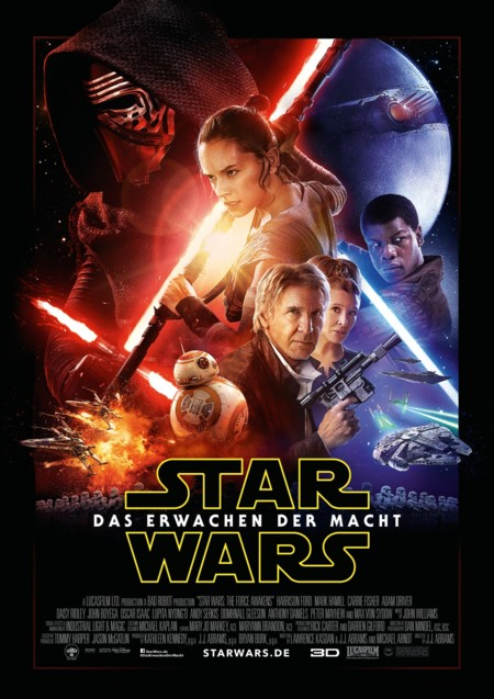 El cartel alemán de Star Wars VII