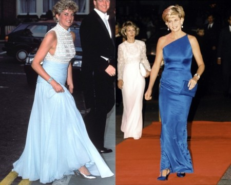 Diana de Gales de azul