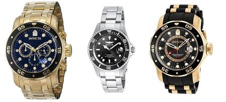 Hasta 70% de descuento en relojes Invicta en una oferta flash de Amazon que nos viene genial para el Día del Padre