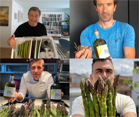 Los Chefs Joan Roca Eneko Atxa Rafa Soler Y Ramon Freixa C Green Asparagus Coop
