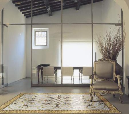 Sicis, una alfombra hecha con pequeños mosaicos