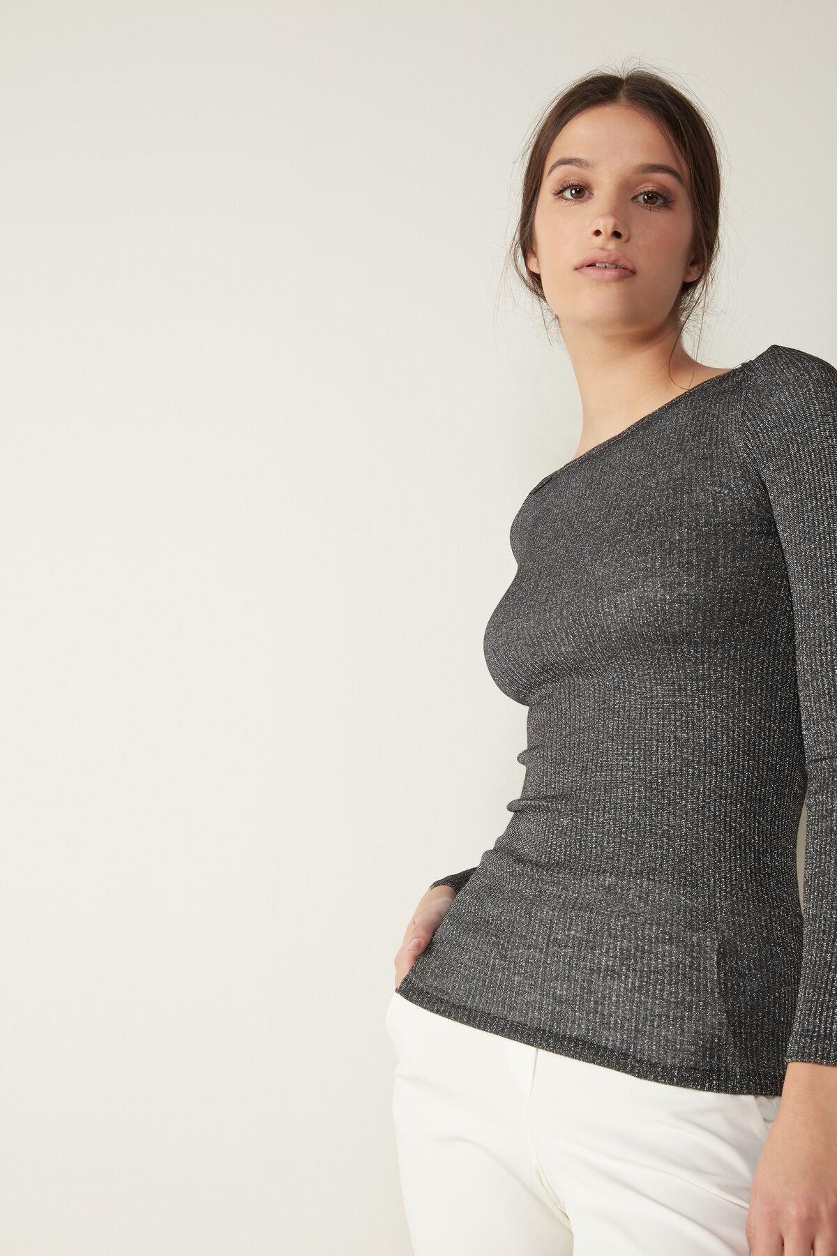 Camiseta lana y seda