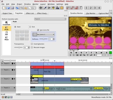 Kdenlive, editor de vídeos libre para Linux