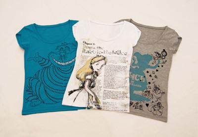 Camisetas de Alicia en el País de las Maravillas en Bershka