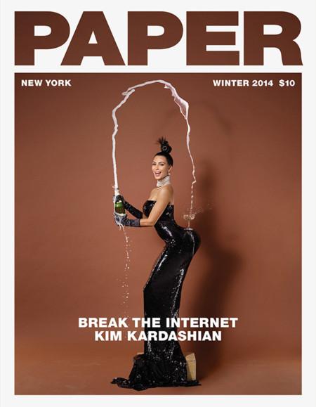 Kim Kardashian Paper Portada
