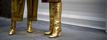 Estas son las botas doradas de Chanel que han conquistado al street style
