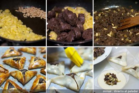 Empanadillas de morcilla y manzana - elaboración