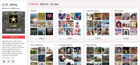 Cómo utiliza Pinterest... el ejército de Estados Unidos