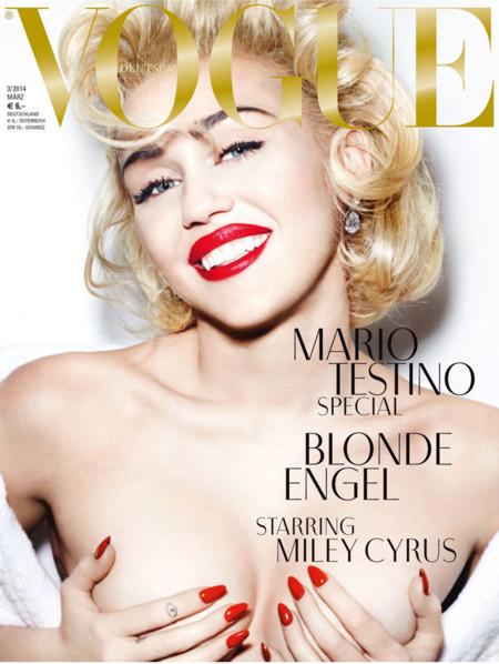 Miley Cyrus (demasiado sexy) en la portada del número de marzo de Vogue Alemania