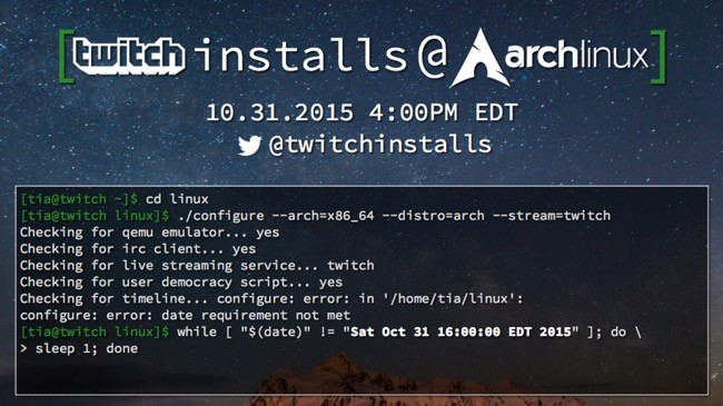 Twitch Arch Linux