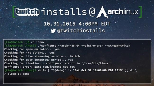 Twitch Arch Linux