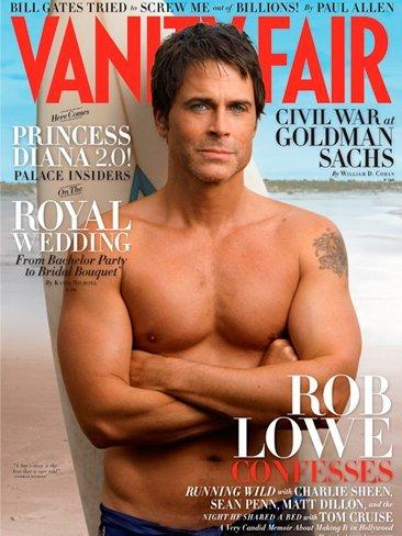 Regreso al pasado: Rob Lowe en Vanity Fair