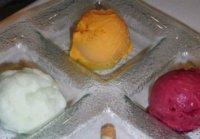 Respuesta a la adivinanza: El sorbete de frutas es el helado más saludable en términos generales