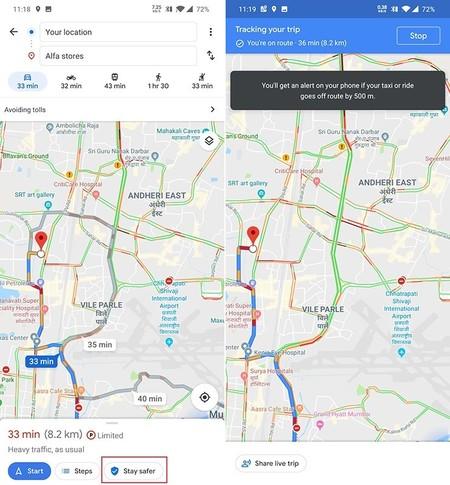 Google Taxis Alertar Cambio Ruta