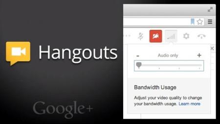 Los hangouts de Google+ reciben un controlador de ancho de banda y la posibilidad de emitir y recibir sólo audio