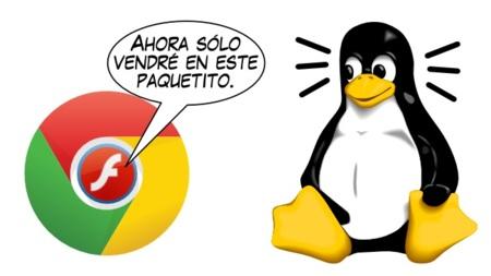 Si quieres Flash en Linux tendrás que usar Chrome