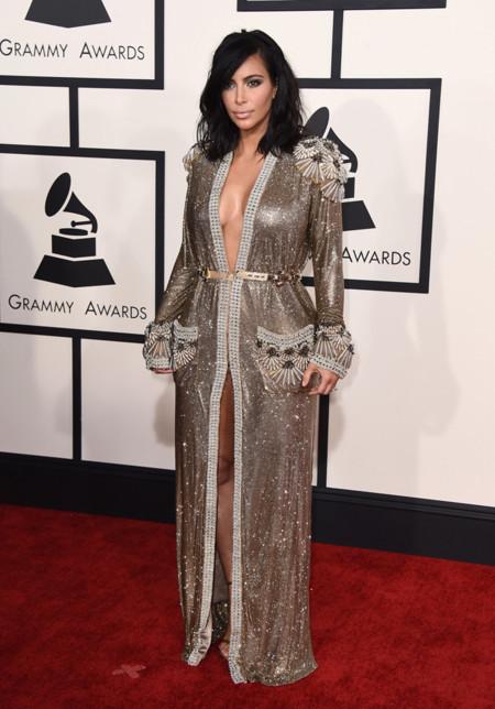 Kim Kardashian Jean Paul Gaultier Grammy 2015